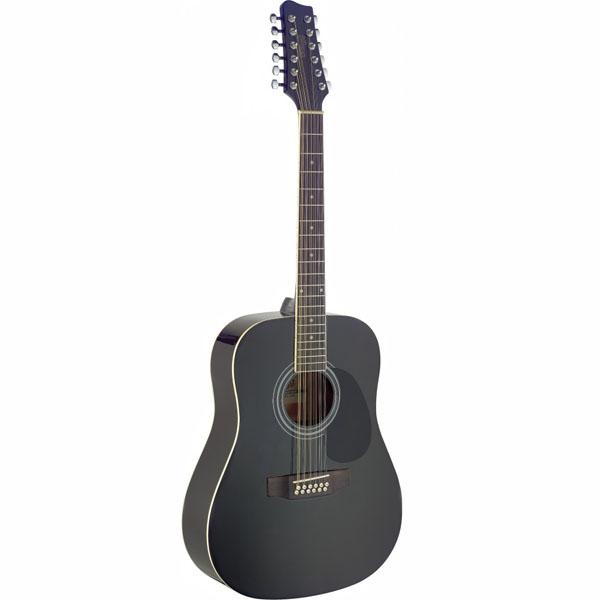 Акустическая 12-струнная гитара Stagg SA40D/12-BK фото 1 | Интернет-магазин Bangbang