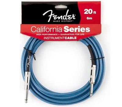 Кабель Fender California series Placid Blue 6 m фото 1 | Интернет-магазин Bangbang