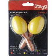 Пластиковые маракасы Stagg EGG-MA S/YW фото 1 | Интернет-магазин Bangbang