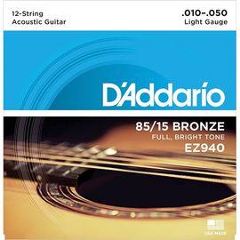Струны для 12-и струнной гитары D'ADDARIO EZ940 фото 1 | Интернет-магазин Bangbang