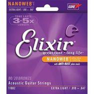 Струны для акустической гитары Elixir Nanoweb 11002 (10-47) фото 1 | Интернет-магазин Bangbang