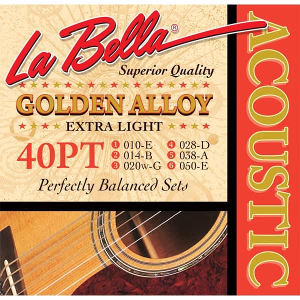 Струны для акустической гитары La Bella 40PT 10-50 фото 1   Интернет-магазин Bangbang