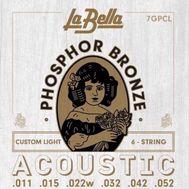 Струны для акустической гитары La Bella 7GPCL 11-52 фото 1 | Интернет-магазин Bangbang