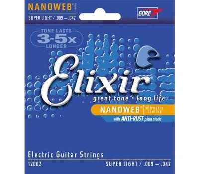 Струны для электрогитары Elixir 12002 Nanoweb (9-42) фото 1 | Интернет-магазин Bangbang